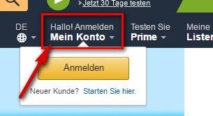 Amazon Login - Shopping & mehr - Login Seite