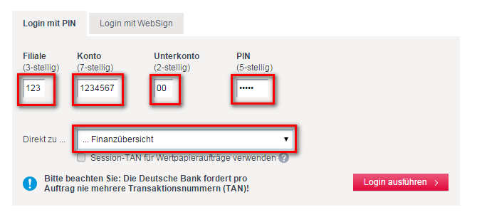 Deutsche Bank Login