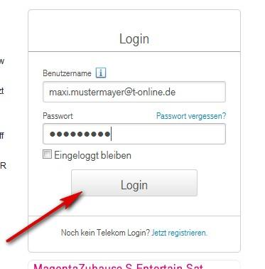 T online login probleme