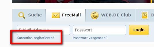 web.de registrieren kostenlos