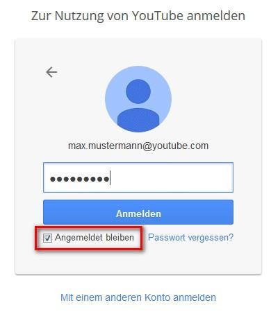 YouTube Login: Konto Login starten